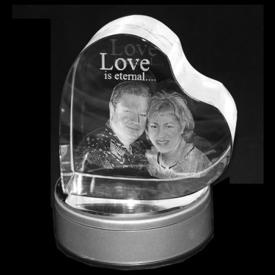 3D Heart Photo Crystal (Large 120x120x60mm)
