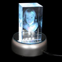 image for 3D Zodiac Crystal Photo (Large 100x60x60mm)